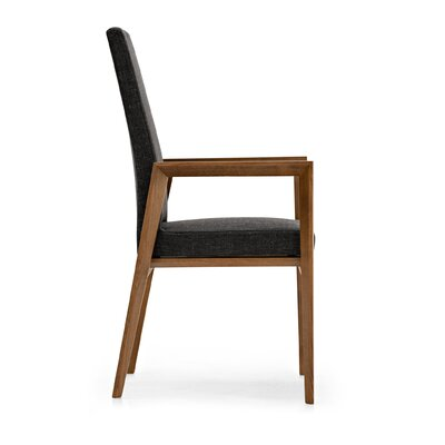Low Price Calligaris Bess Living Room Chair Upholstery: Black, Frame Finish: Graphite