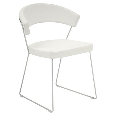 New York Leather Chair (Set of 2) Upholstery: White
