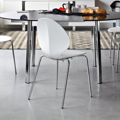 Low Price Calligaris Basil Stackable Chair (Set of 2) Finish: Matte Optic White Lacquer