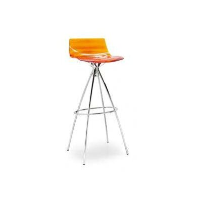No credit financing L'Eau Stool Seat color: Transparent...