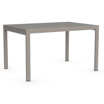 Key Extendable Dining Table Top Finish: Frosted Taupe, Base Finish: Matte Taupe