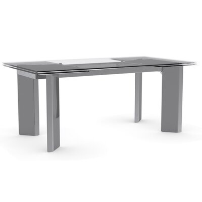 Tower Extendable Dining Table Finish: Transparent Extraclear