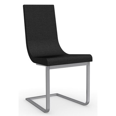 Cruiser Cantilever Chair Upholstery Color: Black, Frame Color: Satin Finished Steel