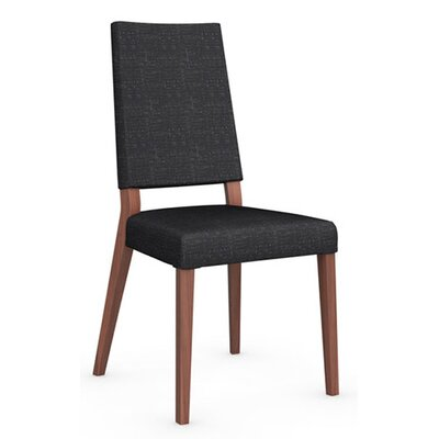 Sandy Side Chair Finish: Walnut, Upholstery: Black
