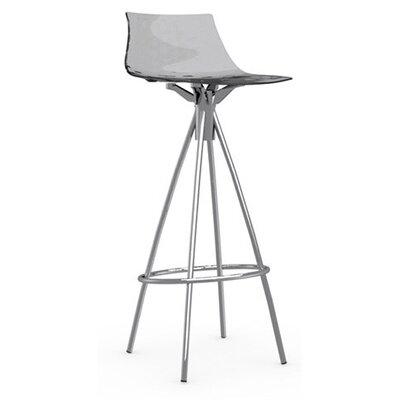 Ice 31.5 Bar Stool Upholstery: Transparent Smoked Grey, Finish: Chromed