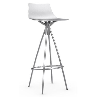 Ice 31.5 Bar Stool Upholstery: Glossy Optic White, Finish: Chromed