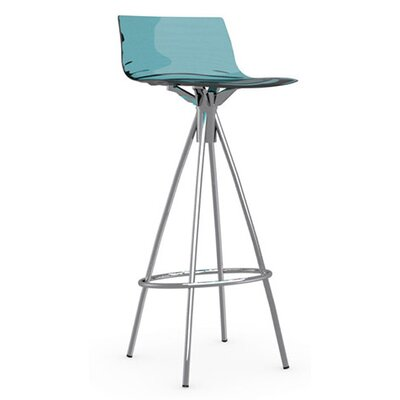 LEau 31.5 Bar Stool Finish: Chromed, Upholstery: Transparent Aquamarine