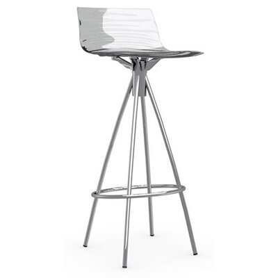 LEau 31.5 Bar Stool Finish: Chromed, Upholstery: Transparent