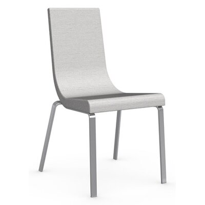 Cruiser Side Chair Finish: Satin Finished Steel, Upholstery: Fabric - Denver Sand