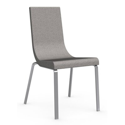 Cruiser Upholstered Dining Chair Leg Color: Satin Finished Steel, Upholstery Color: Denver Cord