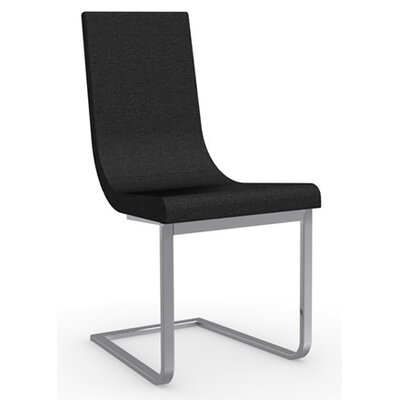 Cruiser Cantilever Chair Upholstery Color: Black, Frame Color: Chromed