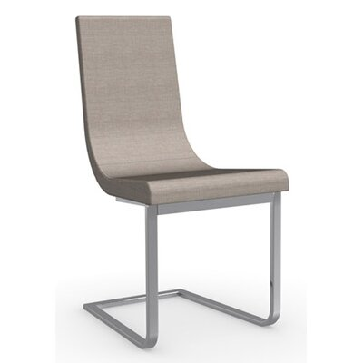 Cruiser Cantilever Chair in Fabric - Denver Anthracite Color: Chromed