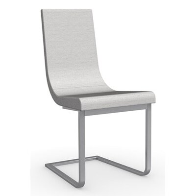 Cruiser Cantilever Chair Upholstery: Fabric - Denver Sand, Frame Finish: Satin Finished Steel