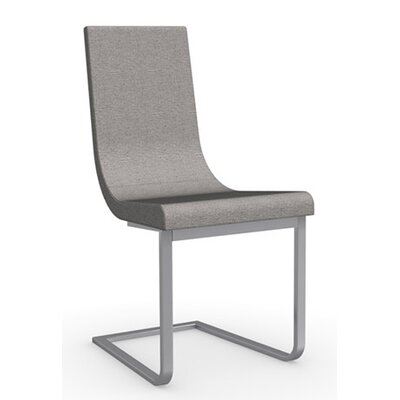 Cruiser Cantilever Chair Upholstery: Fabric - Denver Cord, Frame Finish: Satin Finished Steel