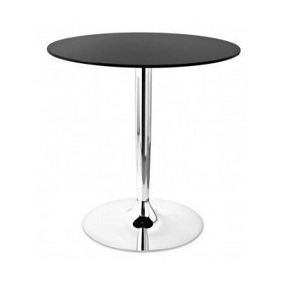 Planet High Bar Table Base Finish: Chromed, Top Finish: Transparent