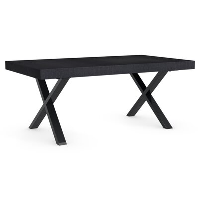 Axel Extendable Dining Table Base Color: Chromed, Top Color: Graphite