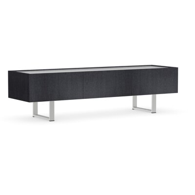 Horizon 71 TV Stand Color: Graphite, Glass Color: Frosted Extra White