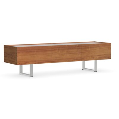 Horizon 71 TV Stand Color: Walnut, Glass Color: Frosted Extra White