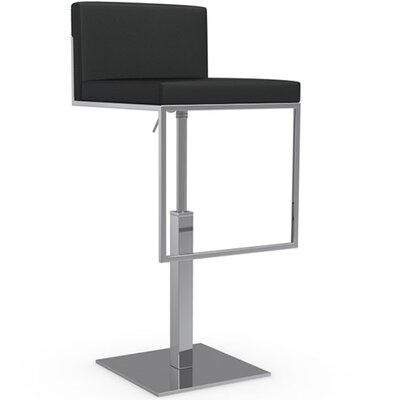 Even Plus Adjustable Height Swivel Bar Stool Finish: Black
