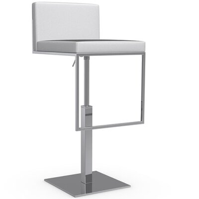 Even Plus Adjustable Height Swivel Bar Stool Finish: Optic White