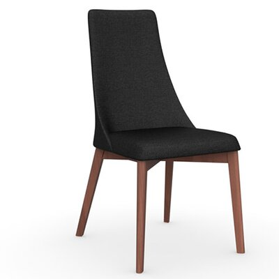 Etoile Chair Upholstery: Fabric Anthracite, Finish: Walnut