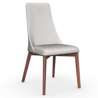 Etoile Chair Frame Color: Walnut, Upholstery Color: Sand