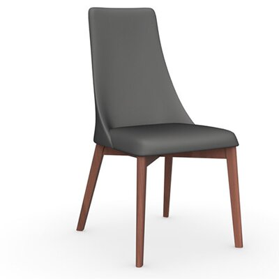 Etoile Chair Upholstery Color: Taupe, Frame Color: Walnut