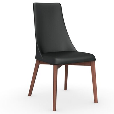 Etoile Chair Frame Color: Walnut, Upholstery Color: Black