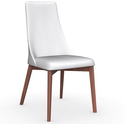 Etoile Chair Finish: Walnut, Upholstery: Leather Optic White