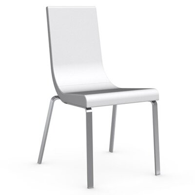 Cruiser Genuine Leather Upholstered Dining Chair Upholstery Color: Optic White, Leg Color: Chromed