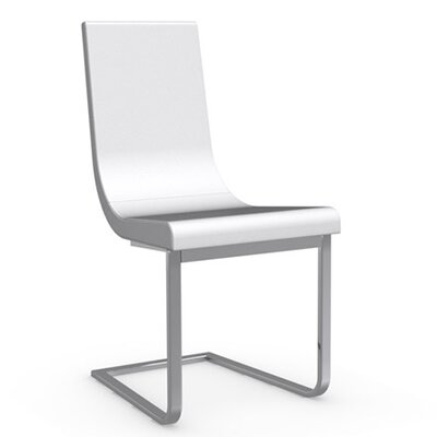 Cruiser Cantilever Chair Upholstery Color: Optic White, Frame Color: Chromed
