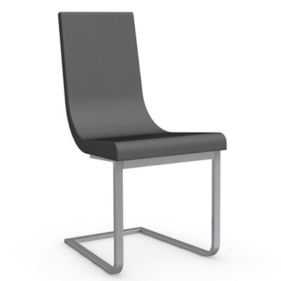 Cruiser Cantilever Chair Frame Finish: Satin Finished Steel, Upholstery: Leather - Taupe