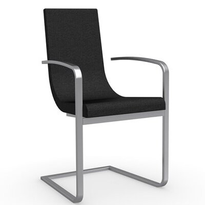 Cruiser Cantilever Arm Chair Frame Finish: Satin Finished Steel, Upholstery: Fabric - Denver Anthracite