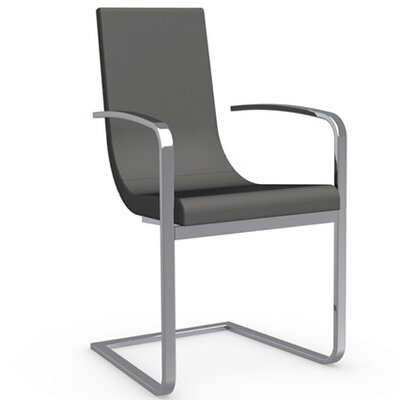Cruiser Cantilever Arm Chair Upholstery: Leather - Taupe, Frame Finish: Chromed