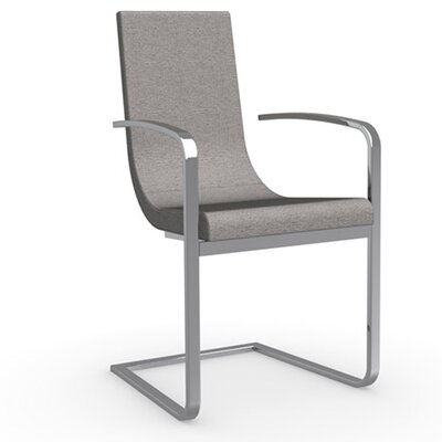 Cruiser Cantilever Arm Chair Frame Finish: Chromed, Upholstery: Fabric - Denver Cord