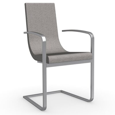 Cruiser Cantilever Arm Chair Frame Finish: Satin Finished Steel, Upholstery: Fabric - Denver Cord