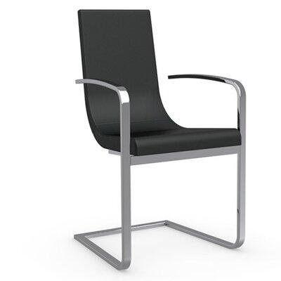 Cruiser Cantilever Arm Chair Upholstery: Leather - Black, Frame Finish: Chromed
