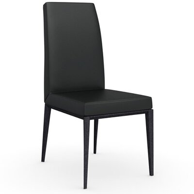 Bess Chair Finish: Graphite, Upholstery: Leather - Black