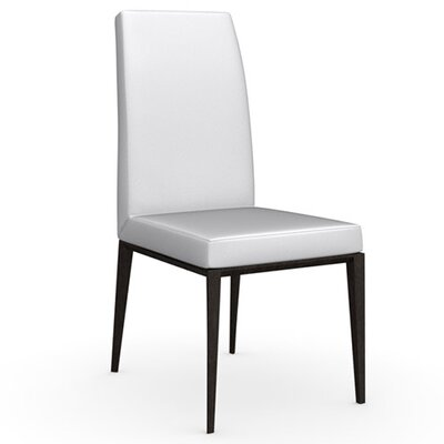 Bess Chair Upholstery Color: Optic White, Frame Color: Wenge