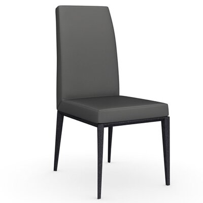 Bess Chair Upholstery: Leather - Taupe, Finish: Graphite