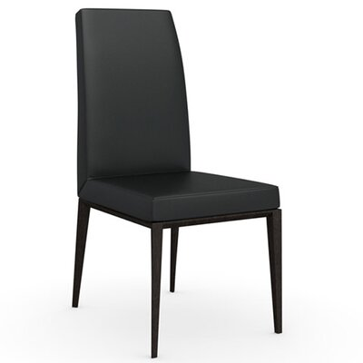 Bess Chair Finish: Wenge, Upholstery: Leather - Black