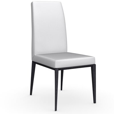 Bess Chair Finish: Graphite, Upholstery: Leather - Optic White