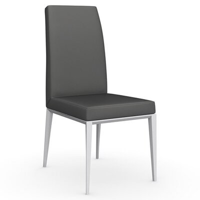 Bess Chair Upholstery: Leather - Taupe, Finish: Matte Optic White