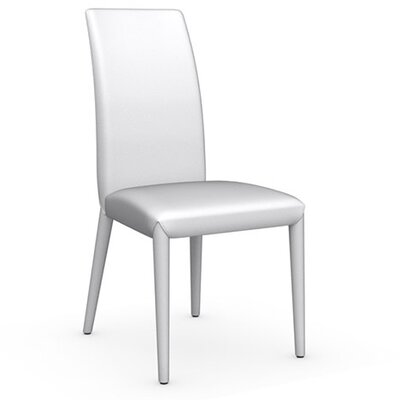 Anais Genuine Leather Upholstered Dining Chair Finish: Optic White