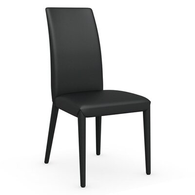 Anais Genuine Leather Upholstered Dining Chair Finish: Black