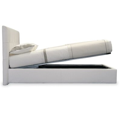Storage Queen Upholstered Platform Bed Color: Fabric-White