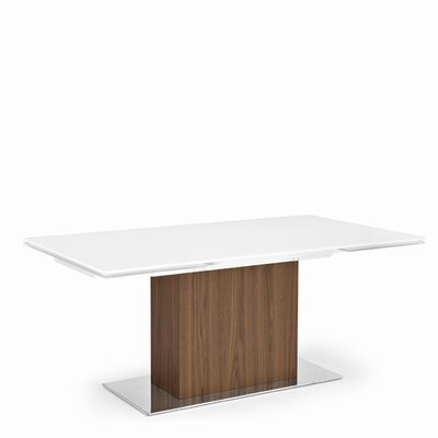 Park Extendable Dining Table Top Finish: Frosted Extra White