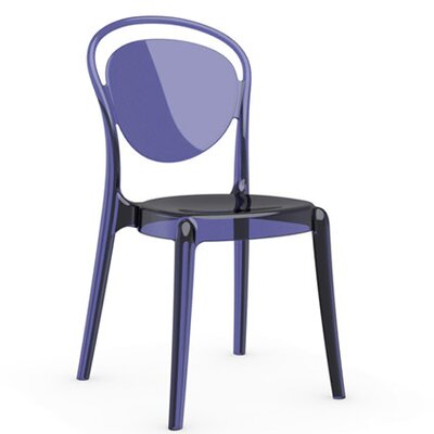 Parisienne Chair Finish: Transparent Aubergine Purple