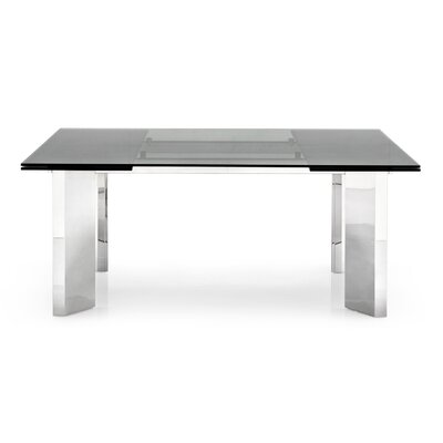 Tower Extendable Dining Table Finish: Smoked Grey