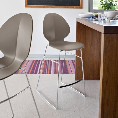 Basil 31.75 Bar Stool Upholstery: Taupe